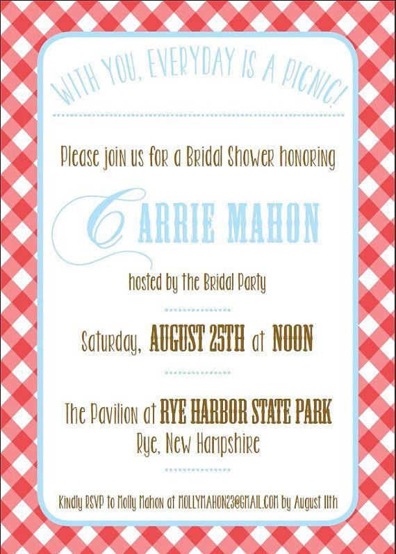 Picnic themed invitation