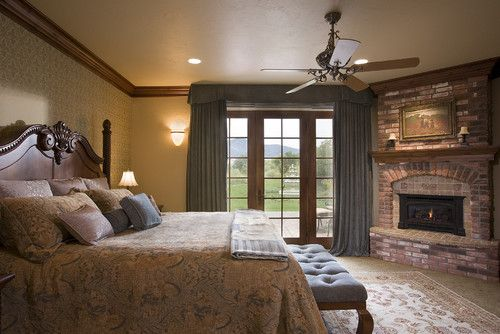 Pin by brittney ayers on dream house pinterest for Master bedroom corner fireplace