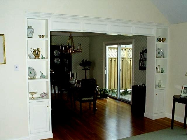 Half wall bookcase room divider remodeling pinterest - How to build a half wall room divider ...