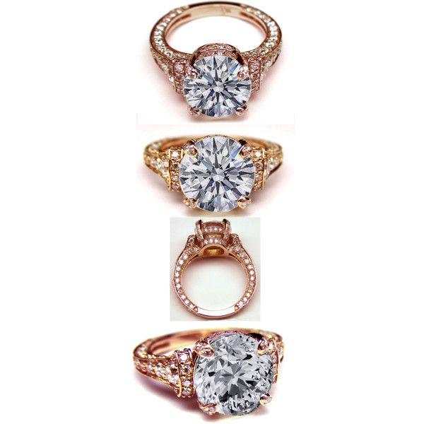 Rose gold Vintage engagement ring Wedding Bells