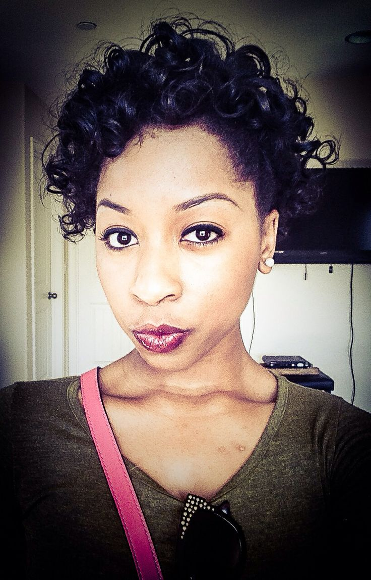 short wavy hairstyles 2017 : Roller set on short natural hair My hair Pinterest