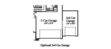 Pin by lennar atlanta on home plans the fraser pinterest for Standard garage bay size