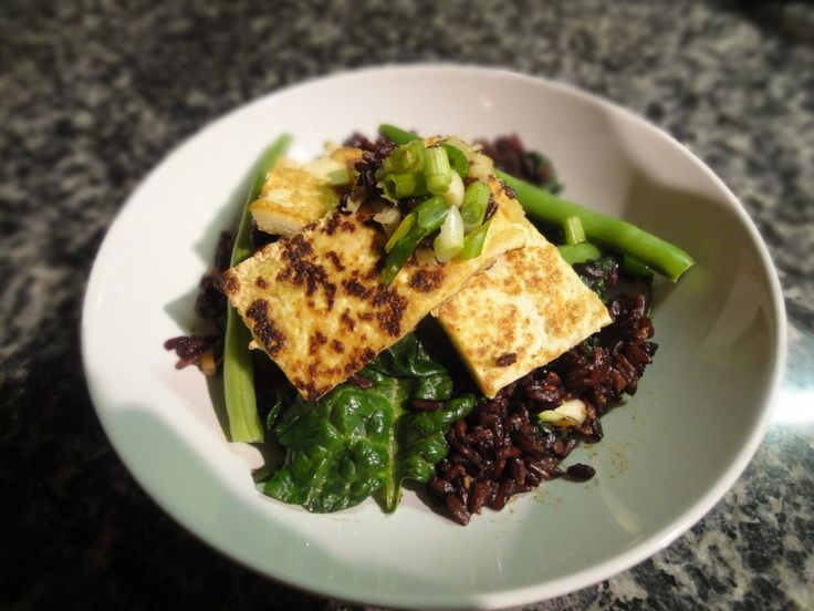 ... of the Day: Fried Black Rice With Ginger Tofu, Spinach and Green Beans