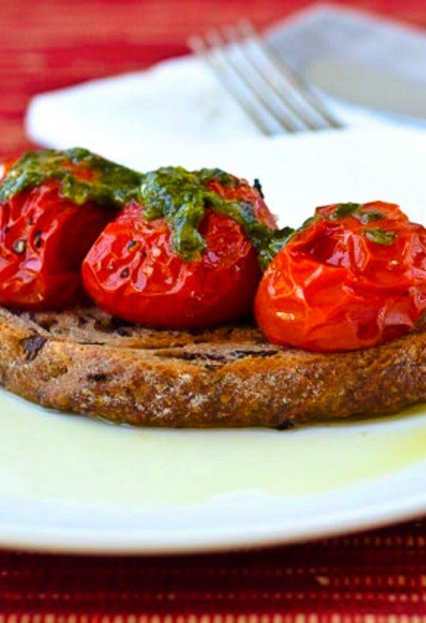 Tomatoes On Toast   food   Pinterest
