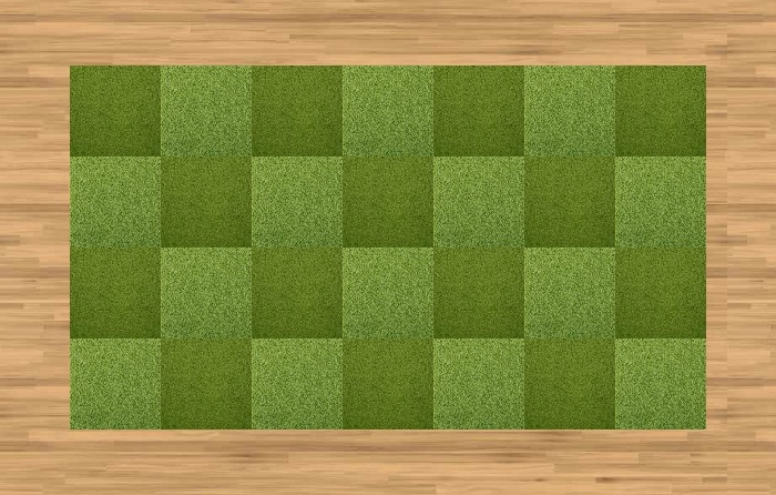Grass carpet squares from green furnishings and for Grass carpet tiles