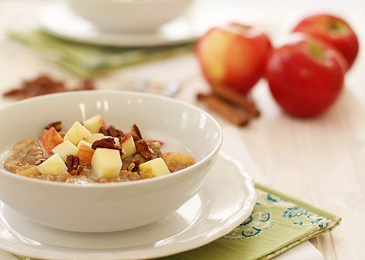 Overnight Apple Pie Steel Cut Oats (mix up the night before and then ...