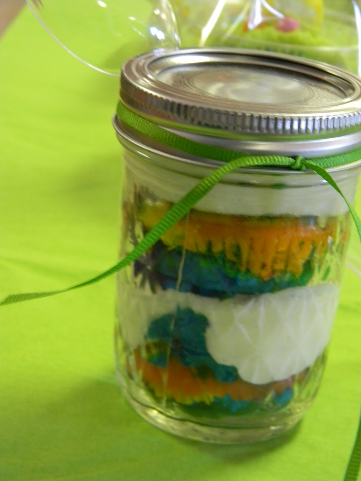double rainbow cupcake in a jar | Cupcake Creations | Pinterest