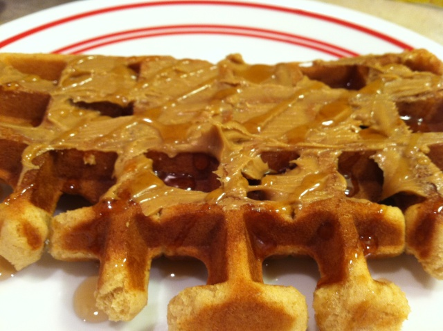 Peanut Butter Waffles - Sam's favorite | Seeing in Black and White ...