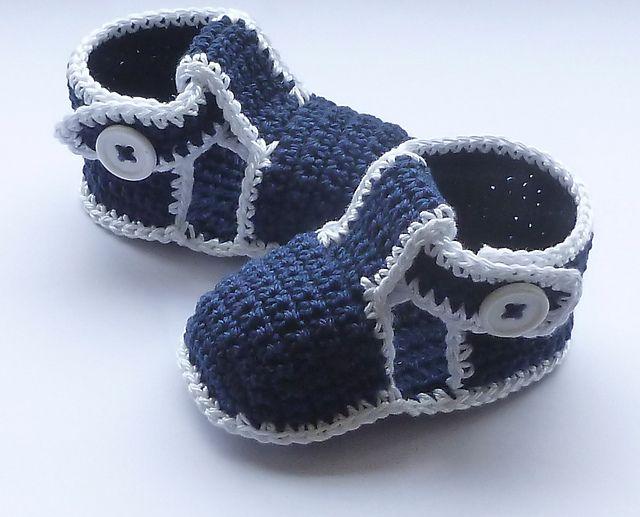 Baby Boy Sandals pattern by Crochet- atelier
