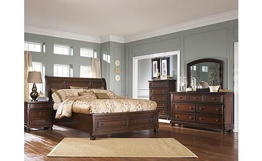 Porter Sleigh Bedroom Set Ashley Furniture Home Pinterest