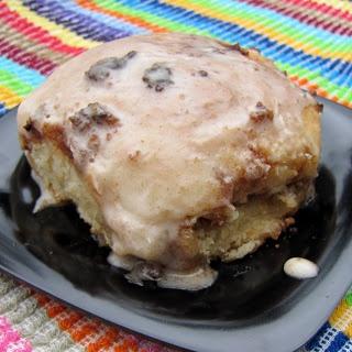 gooey cinnamon-filled breakfast biscuits w/ sweet vanilla glaze