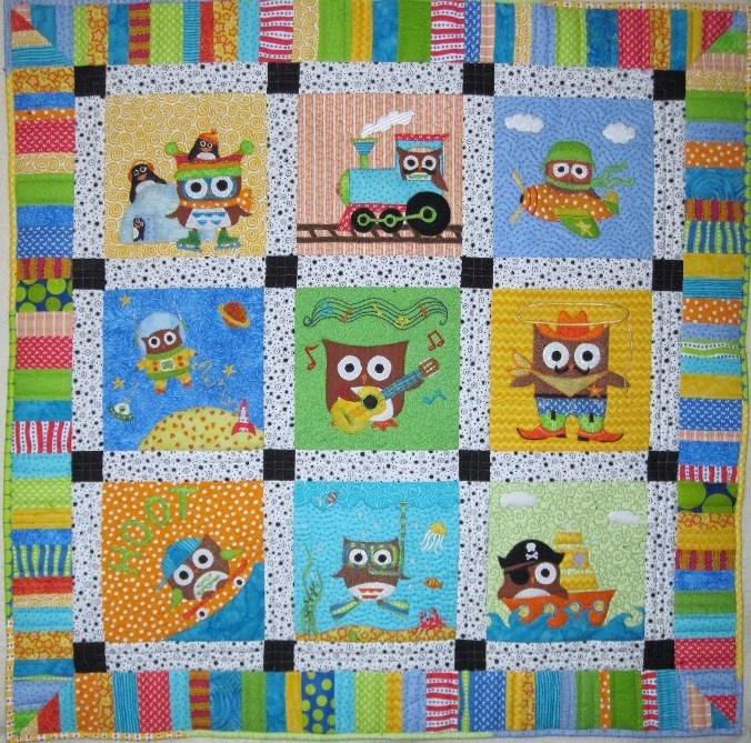 Amazing applique owl quilt! Quilt Inspirations Pinterest