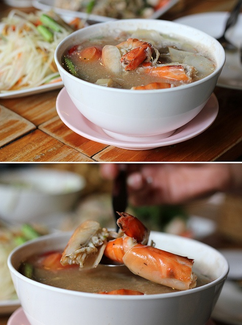 Tom Yum Gung (Sour and Spicy Soup with Shrimps)