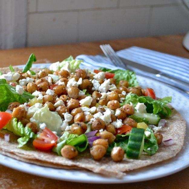 Spicy Chickpea Wraps | food. | Pinterest