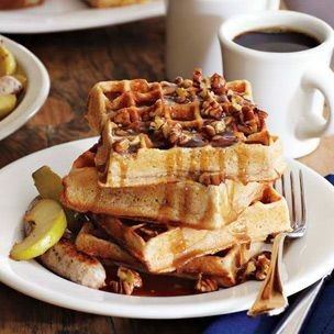 Praline waffles-- Sweeten up your dish with Vermont Maid Syrup- http ...