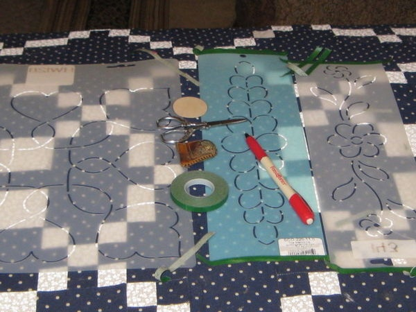 Hand quilting in floor frame hand quilting pinterest for Floor quilt frame