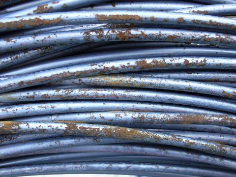 Rust art metal wire