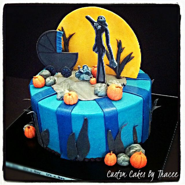 nightmare before christmas baby shower cake via flickr uh oh