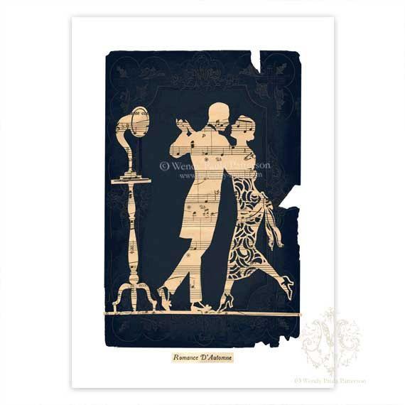 Art Deco Sheet Cake : Art Deco, Giclee, Art Print, French, Dancing Couple, 1920s ...