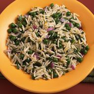 Orzo and Pea Salad with Three Herbs | Veges | Pinterest