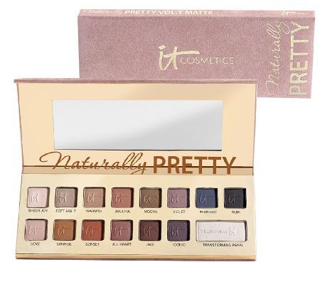 It Cosmetics Naturally Pretty Matte Luxe Shadow Palette & Brush Holiday 2013