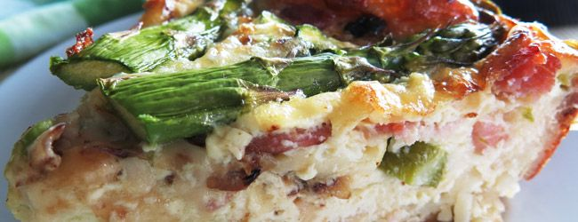 gluten free asparagus quiche | Food | Pinterest