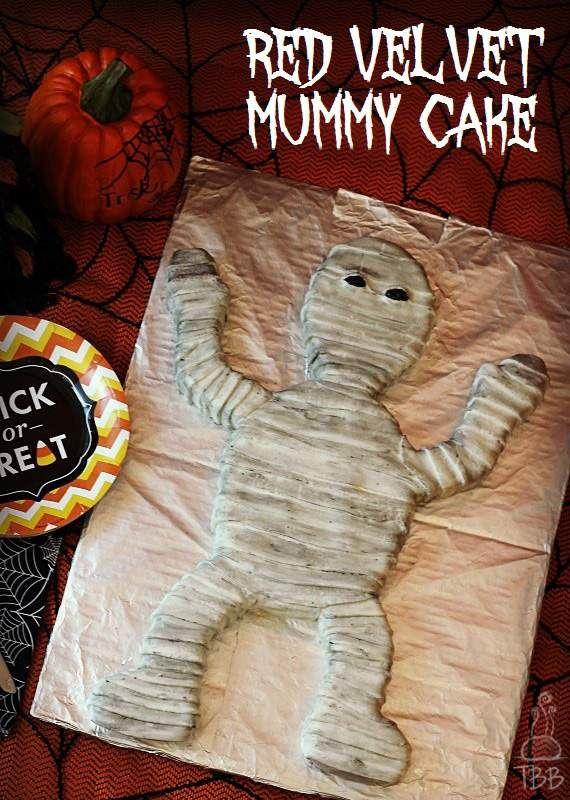 Red Velvet Mummy Cake