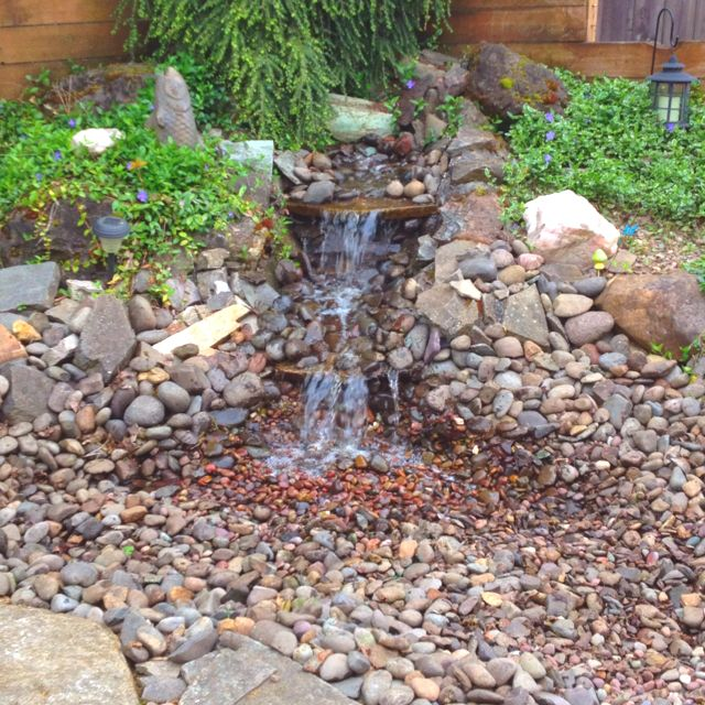 Backyard water feature house pinterest for Backyard ponds and water features