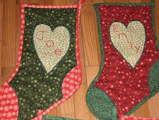 Home Made Stockings Are The Best Sew Much Fun Pinterest