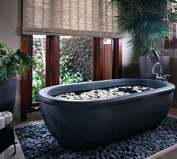 Decoracion Baño Tropical: un #baño tropical #sanitarios #baño #decoración #baños #bañeras