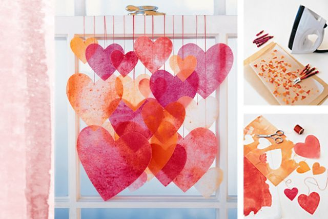 Guirlande de coeurs st valentin pinterest - Pinterest bricolage st valentin ...