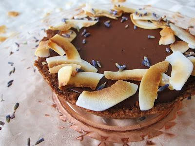 Fragrant Vanilla Cake: Little Dark Chocolate Coconut Lavender Tarts
