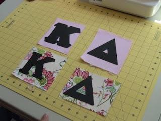 DIY Sewn Greek lettered apparel
