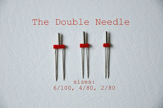Why and how to use double needles on your sewing machine.