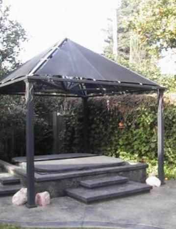 Steel shade structure welding creations fused glass for Steel shade structure design