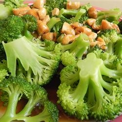Broccoli with Garlic Butter and Cashews | Recipe