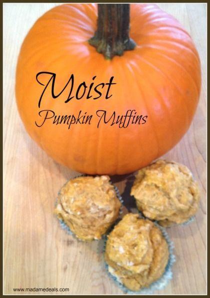 Kid Muffin Recipes: Moist Pumpkin Muffins #recipe