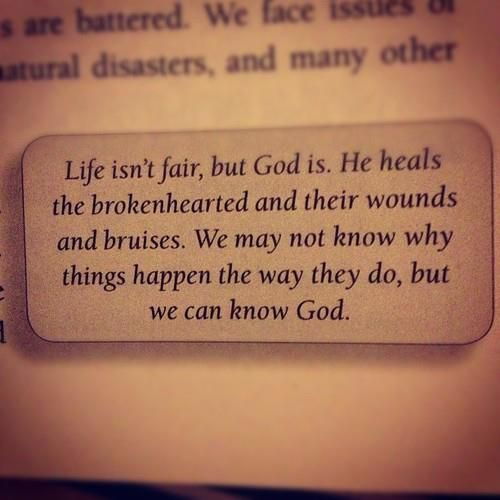 """He heals the brokenhearted and binds up their wounds"""" (Psalm 147:3). Aren't you glad that God is a healer! It doesn't matter what is """"broken"""" in your life today, God's nature is to bring you complete..."""