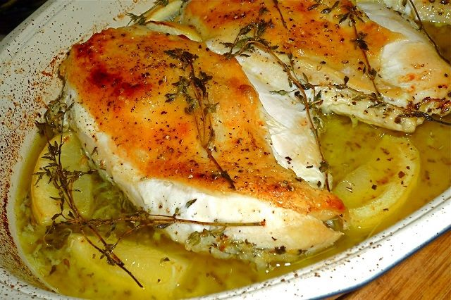 Lemon-Thyme Roasted Chicken Breasts_ | Chicken Recipes | Pinterest