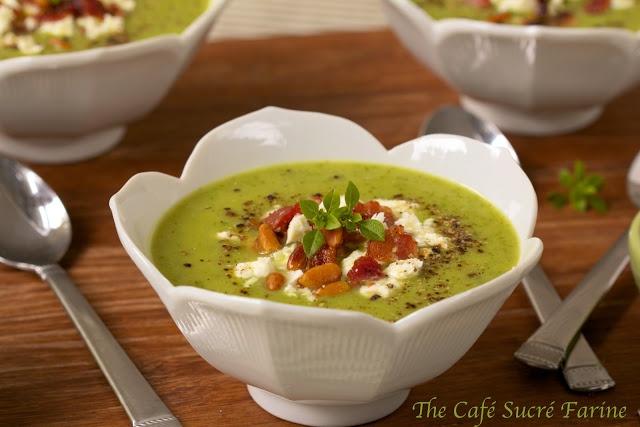 The Café Sucré Farine: Arugula/Spinach Soup w/ Potatoes & Peas