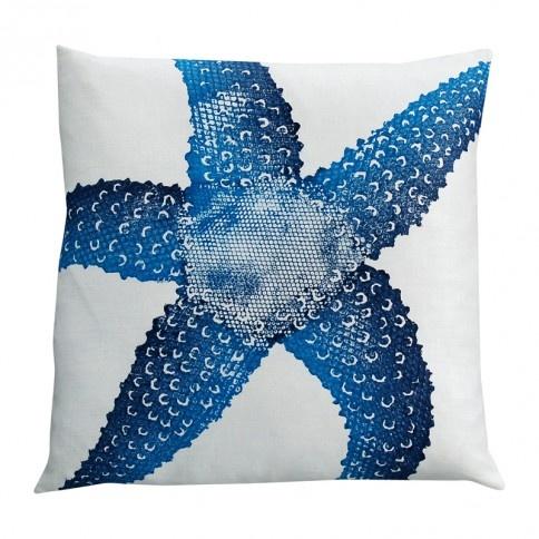 Indigo Starfish Pillow