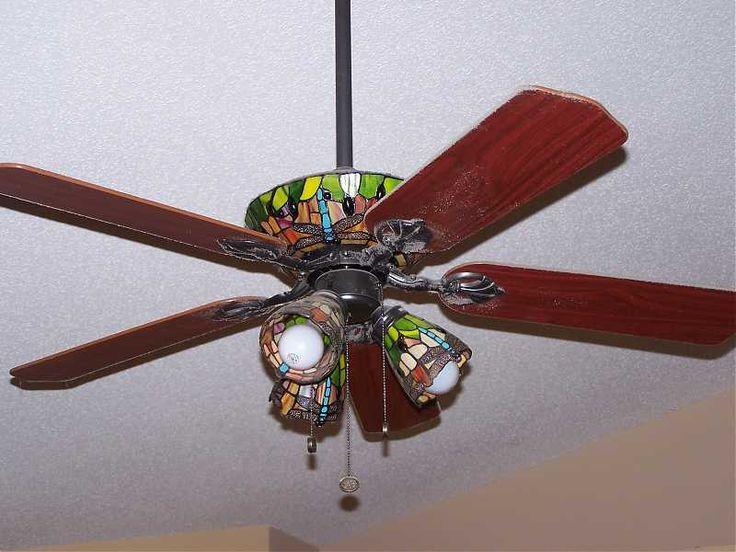 Tiffany Like Ceiling Fan