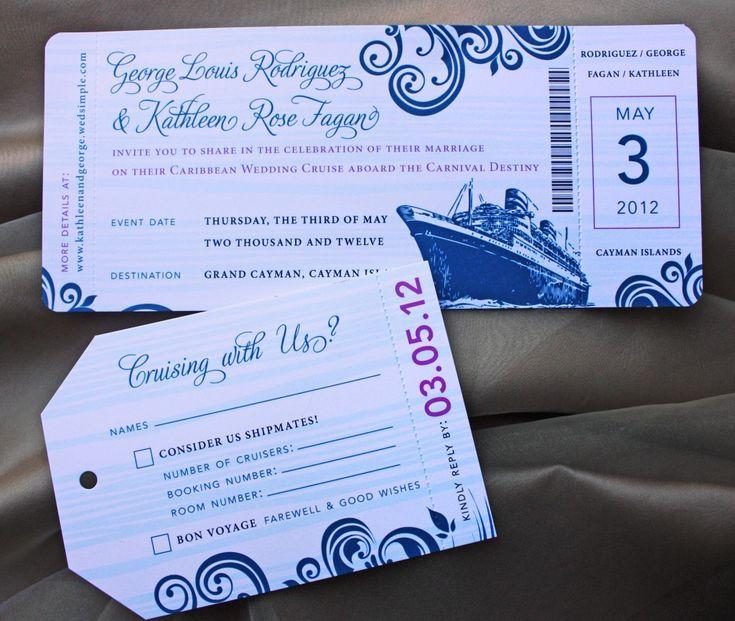 Boarding Pass Wedding Invitation for amazing invitations layout