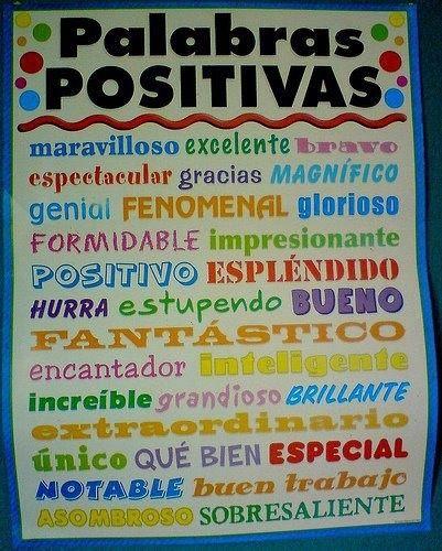 Palabras positivas en espa ol espa ol con spanish skype for Pinterest en espanol