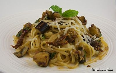 Linguine with Roasted Eggplant, Sun-Dried Tomatoes and Pine Nuts - The ...