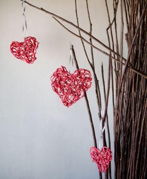 valentine yarn hearts