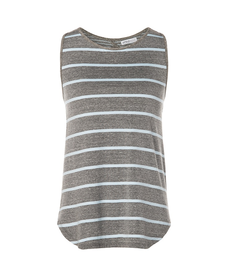 Brighton Tank in Powder Blue/Heather Grey