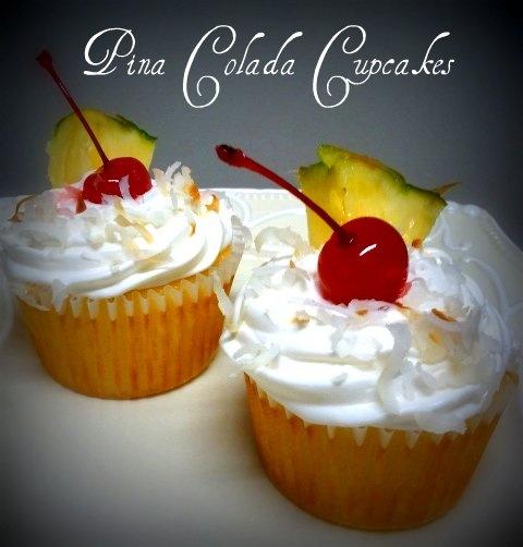 Pina Colada Cupcake | My Creations | Pinterest