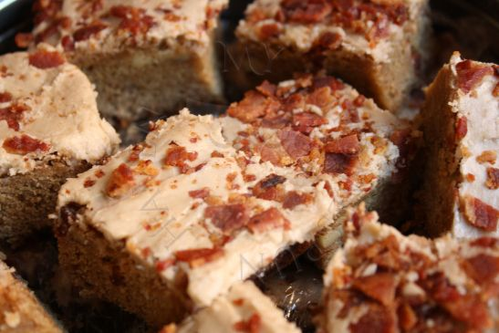Brown Butter Blondies with Maple Icing and Bacon Sprinkles | Candy ...