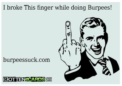 bahaha o.m.g. i hate burpees..